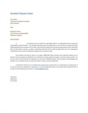 004 Wondrou In Kind Donation Letter Template Idea  Request Acknowledgement Receipt360