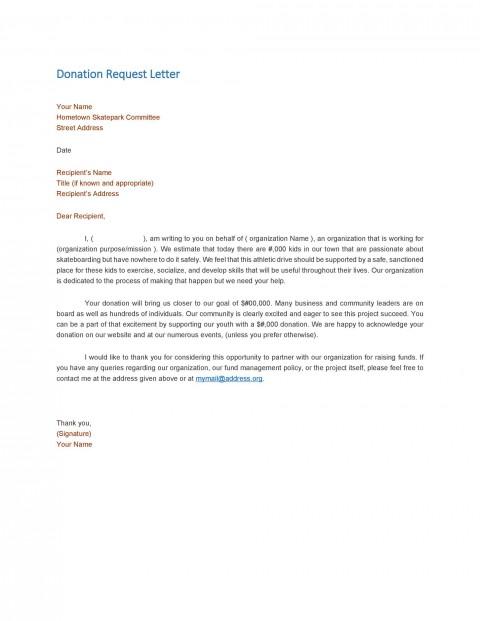 004 Wondrou In Kind Donation Letter Template Idea  Request Acknowledgement Receipt480