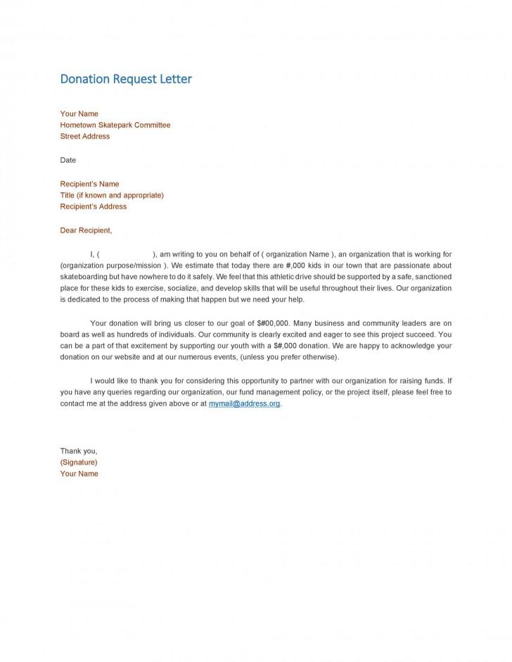 004 Wondrou In Kind Donation Letter Template Idea  Request Acknowledgement Receipt728