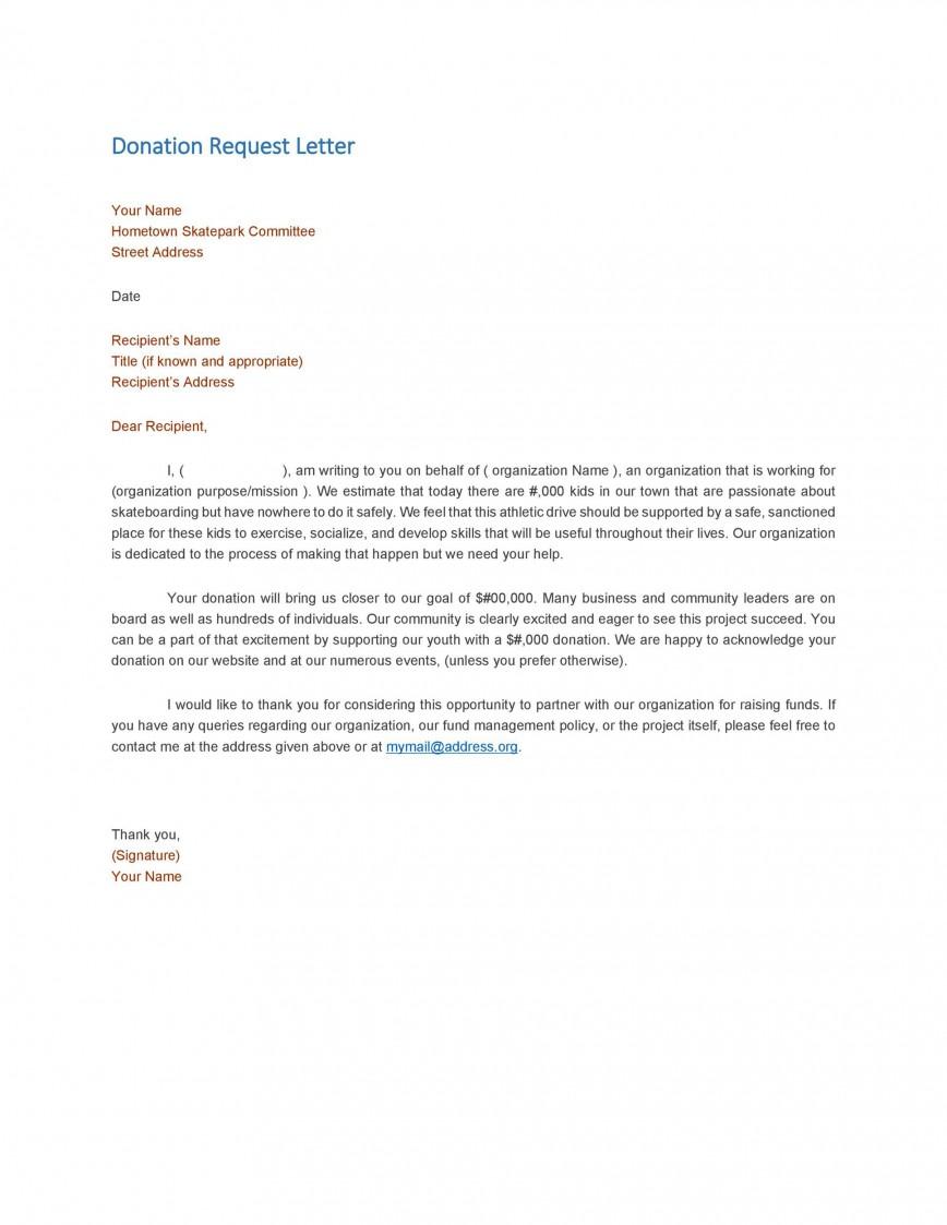 004 Wondrou In Kind Donation Letter Template Idea  Request Acknowledgement Receipt868