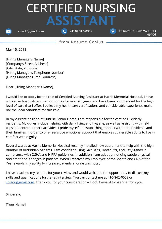 Nursing Cover Letter Template Addictionary