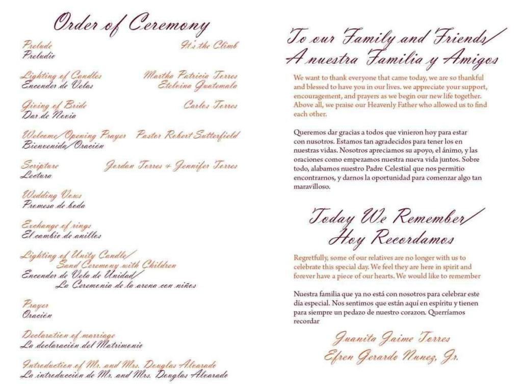 004 Wondrou One Page Wedding Program Template Example  Ceremony FreeLarge