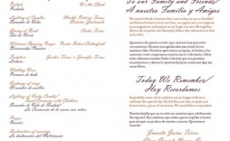 004 Wondrou One Page Wedding Program Template Example  Ceremony Free