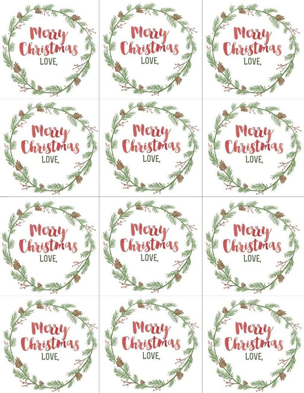 004 Wondrou Printable Christma Gift Tag Template Example  Templates Free Holiday For WordLarge