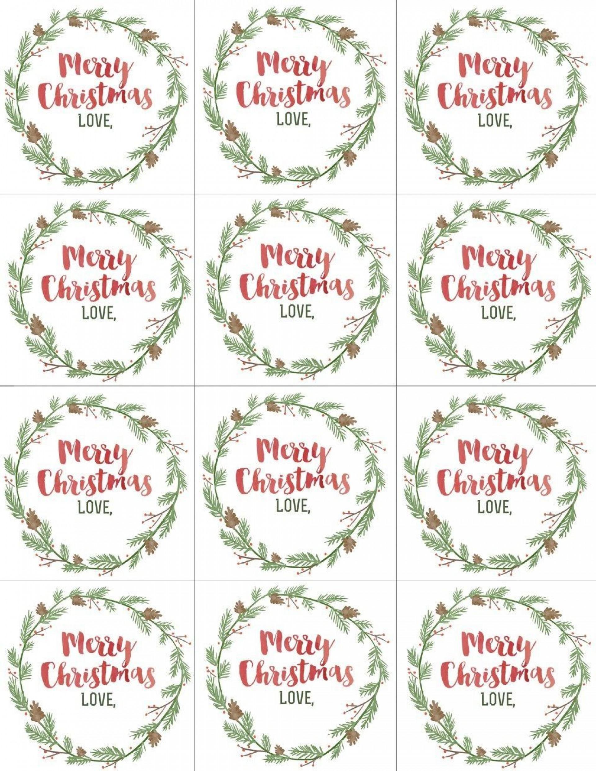 004 Wondrou Printable Christma Gift Tag Template Example  Templates Free Holiday For Word1920