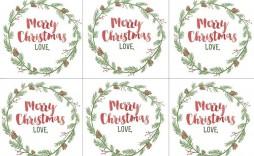004 Wondrou Printable Christma Gift Tag Template Example  Templates Free Holiday For Word