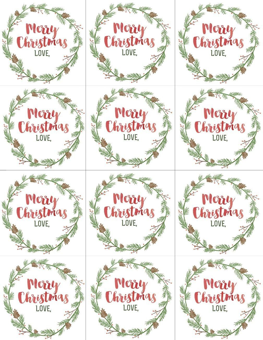 004 Wondrou Printable Christma Gift Tag Template Example  Templates Free Holiday For WordFull
