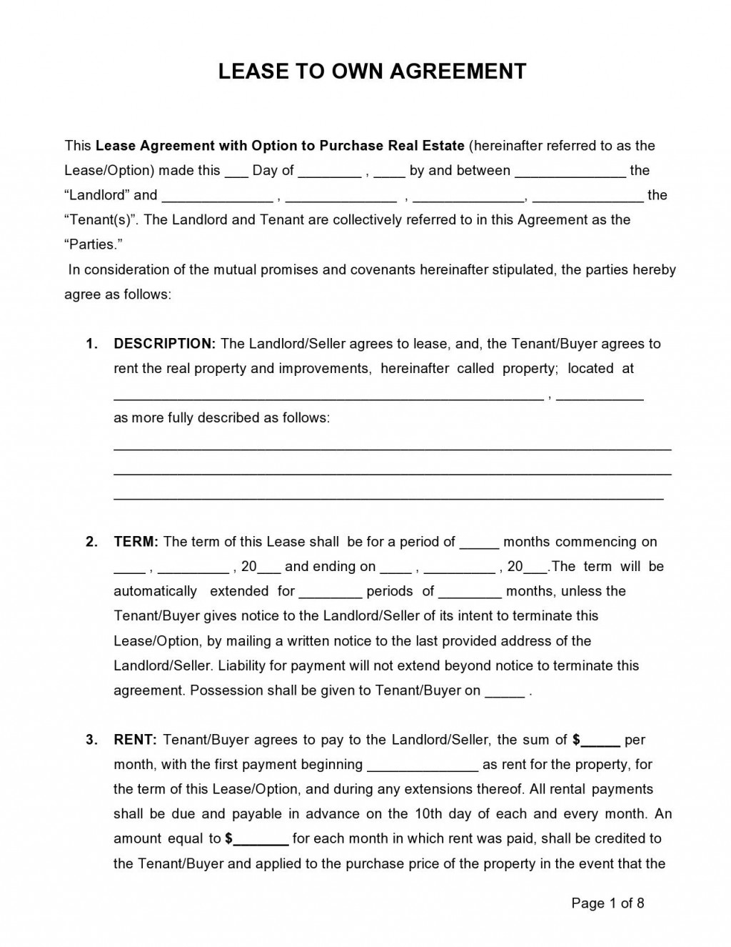 004 Wondrou Rent To Own Contract Form Free Example  For House PdfLarge