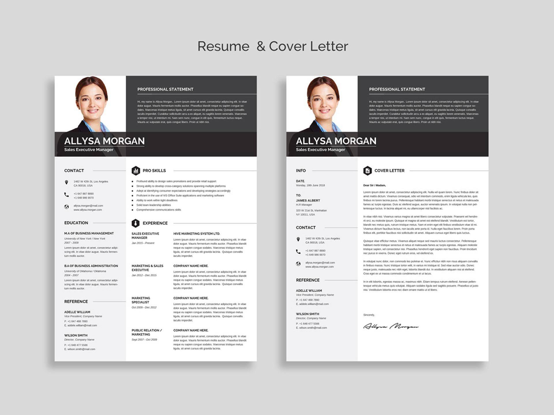 004 Wondrou Resume Template Free Word Design  Download 2020 Cv1920
