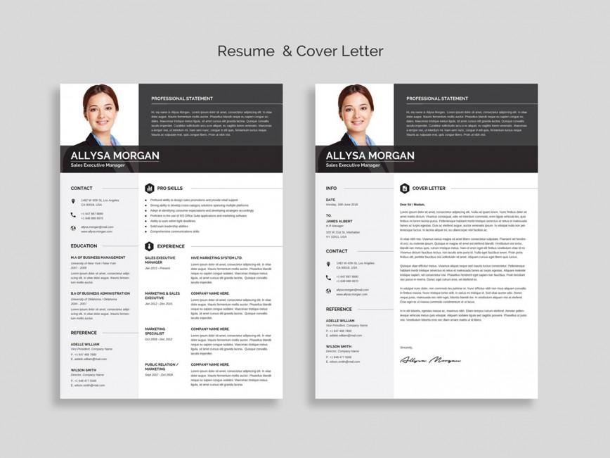 004 Wondrou Resume Template Free Word Design  Cv Download 2019 With Photo