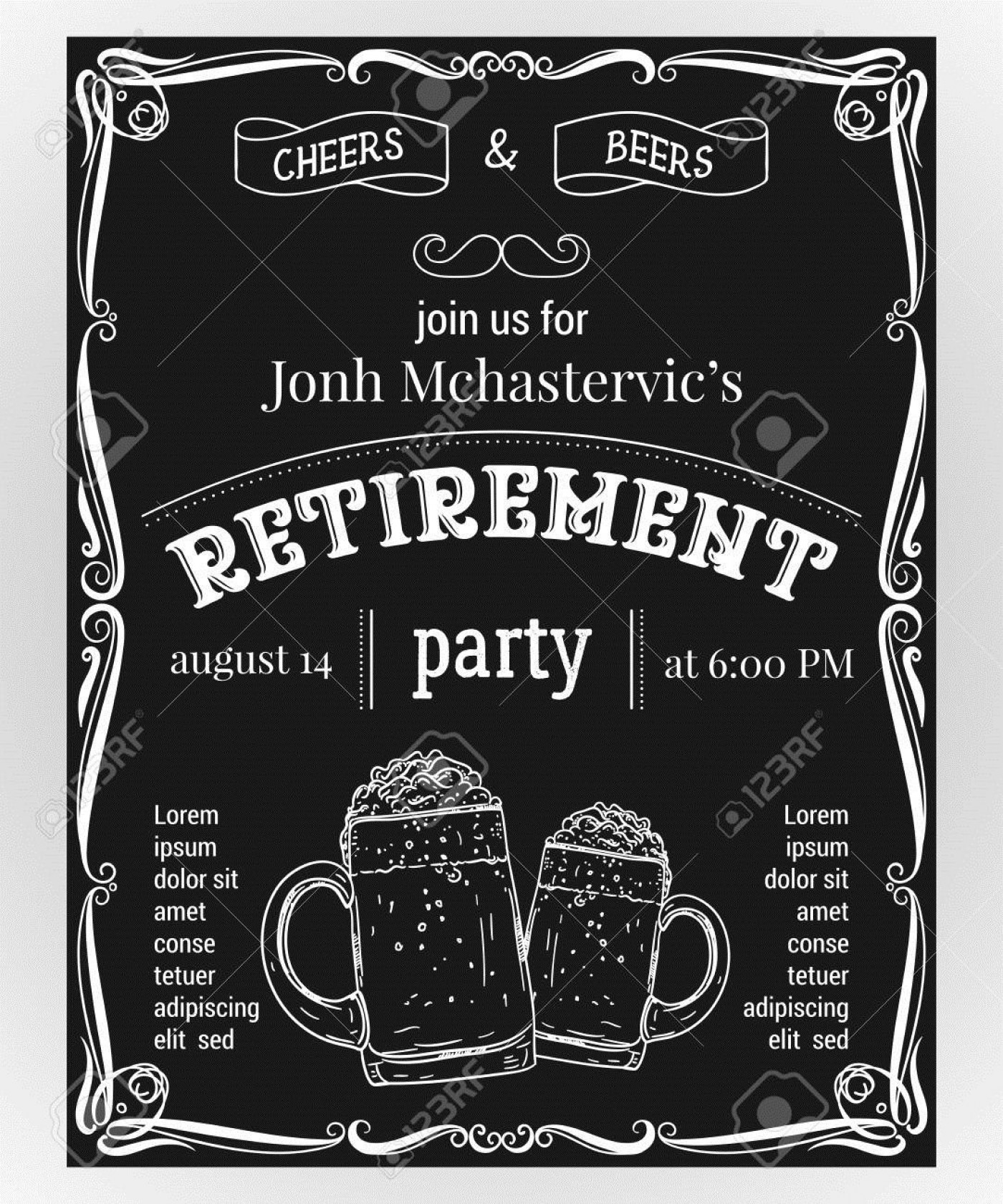 004 Wondrou Retirement Party Invitation Template Free Word High Definition  M1400