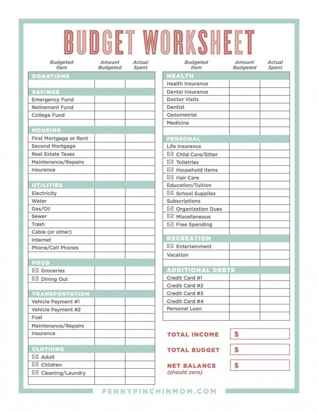 004 Wondrou Sample Line Item Budget Template Example Large