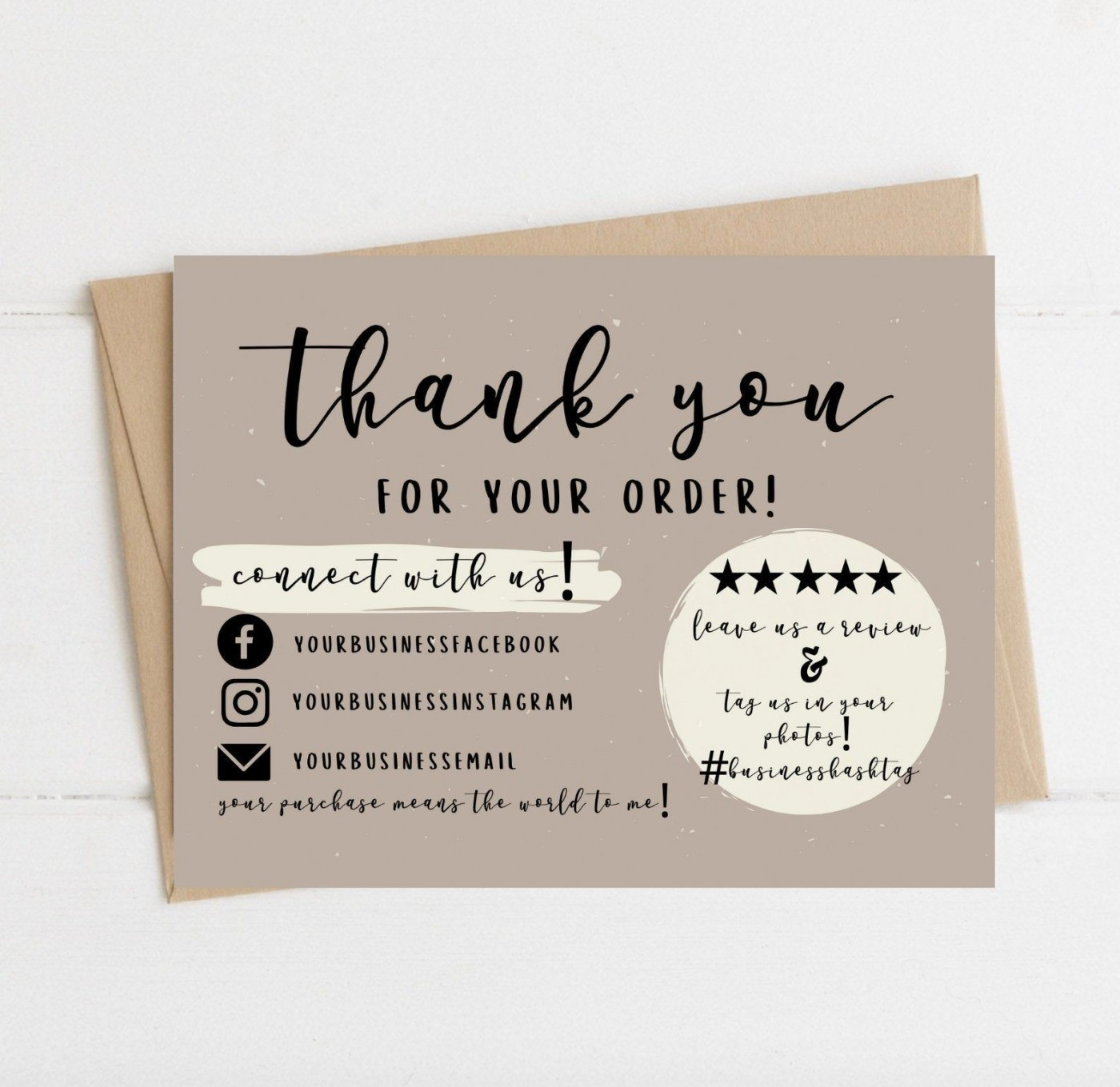 004 Wondrou Thank You Card Template Sample  Wedding Busines Word Free1400