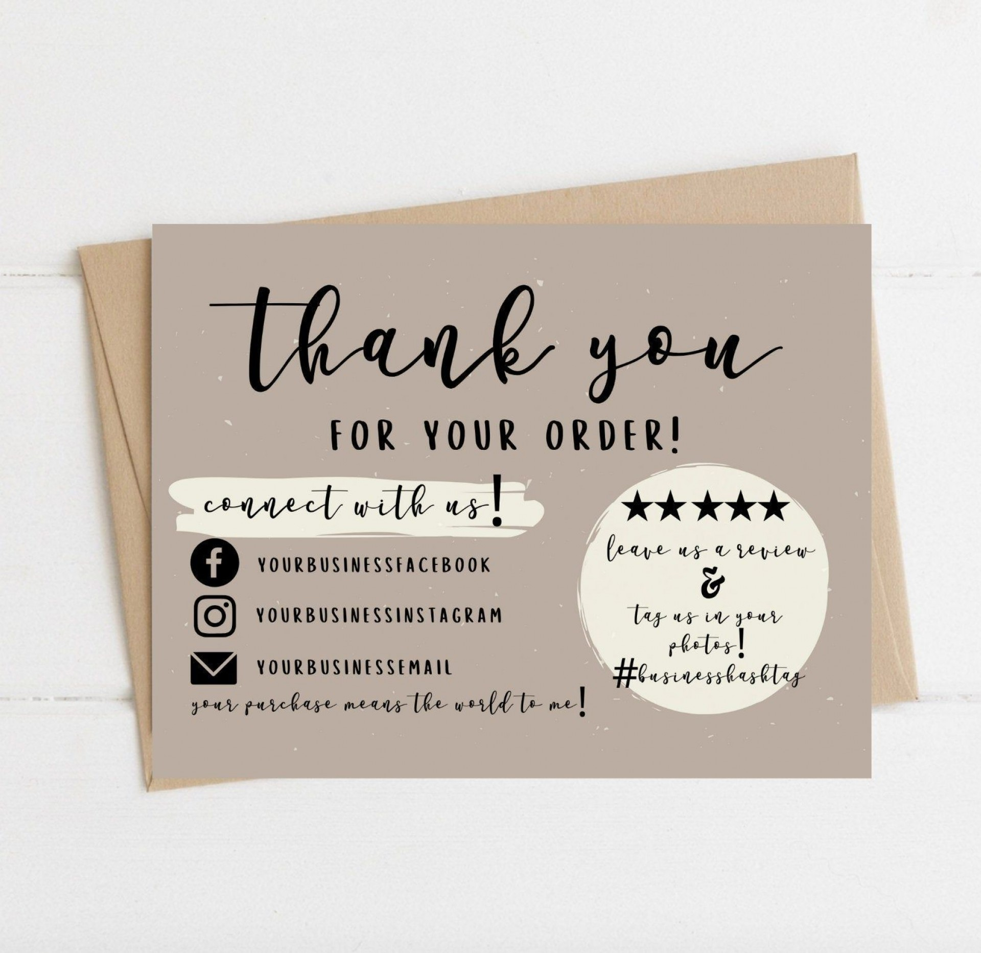 004 Wondrou Thank You Card Template Sample  Wedding Busines Word Free1920