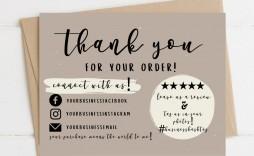 004 Wondrou Thank You Card Template Sample  Christma Word Wedding Reception Teacher Busines