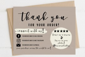 004 Wondrou Thank You Card Template Sample  Wedding Busines Word Free