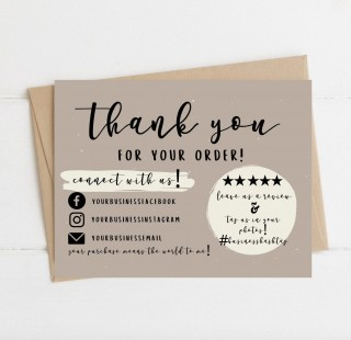004 Wondrou Thank You Card Template Sample  Wedding Busines Word Free320