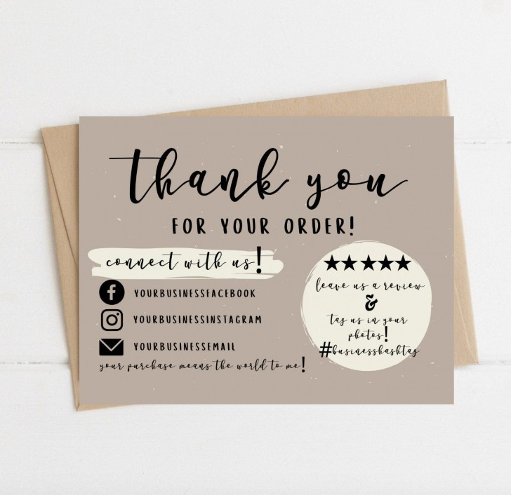 004 Wondrou Thank You Card Template Sample  Wedding Busines Word Free728