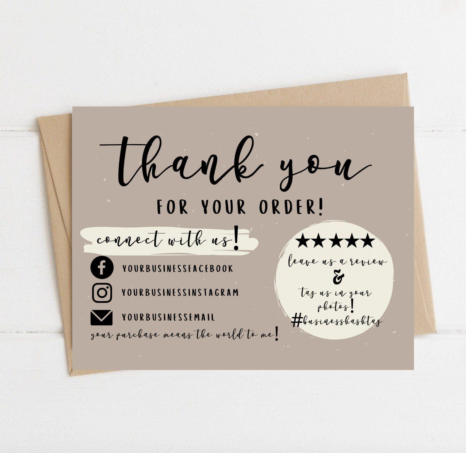 004 Wondrou Thank You Card Template Sample  Christma Word Wedding Reception Teacher BusinesFull