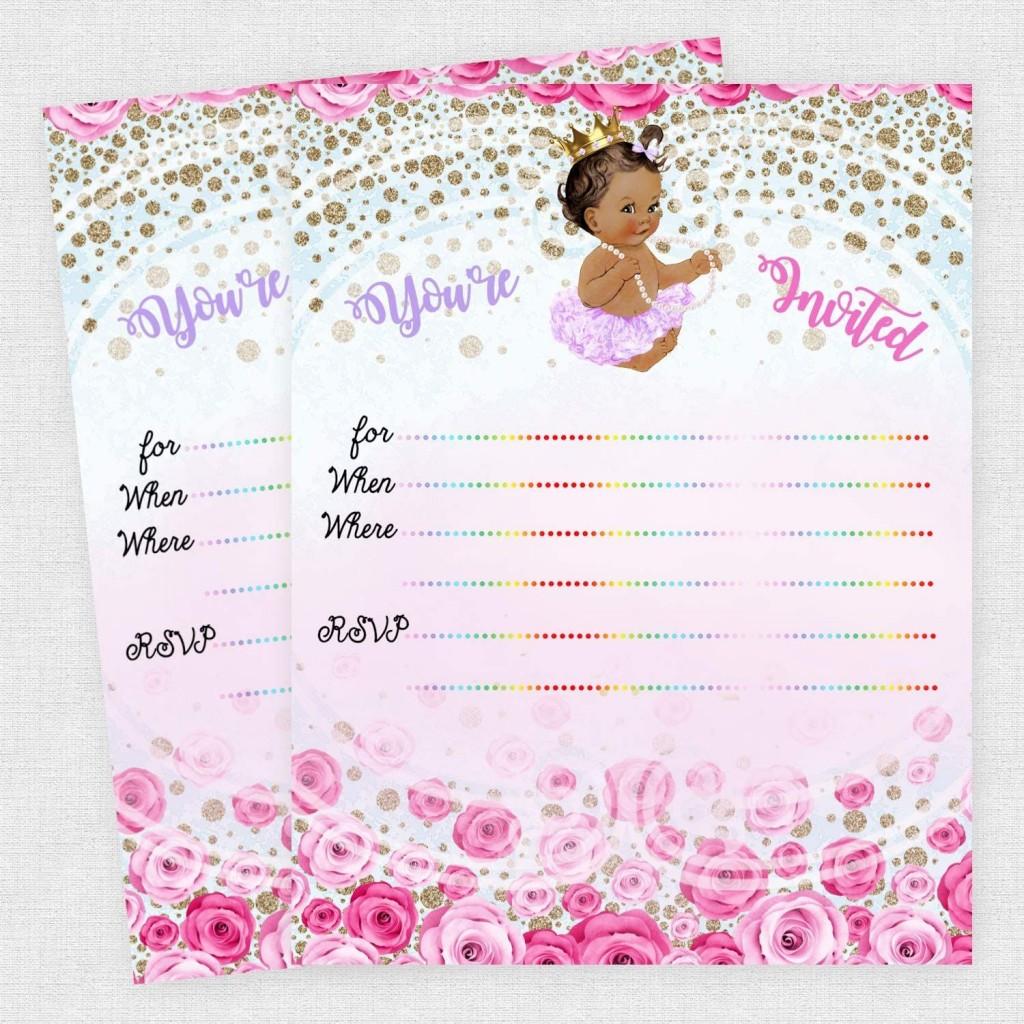 005 Amazing Baby Shower Invitation Girl Princes Image  Princess ThemeLarge