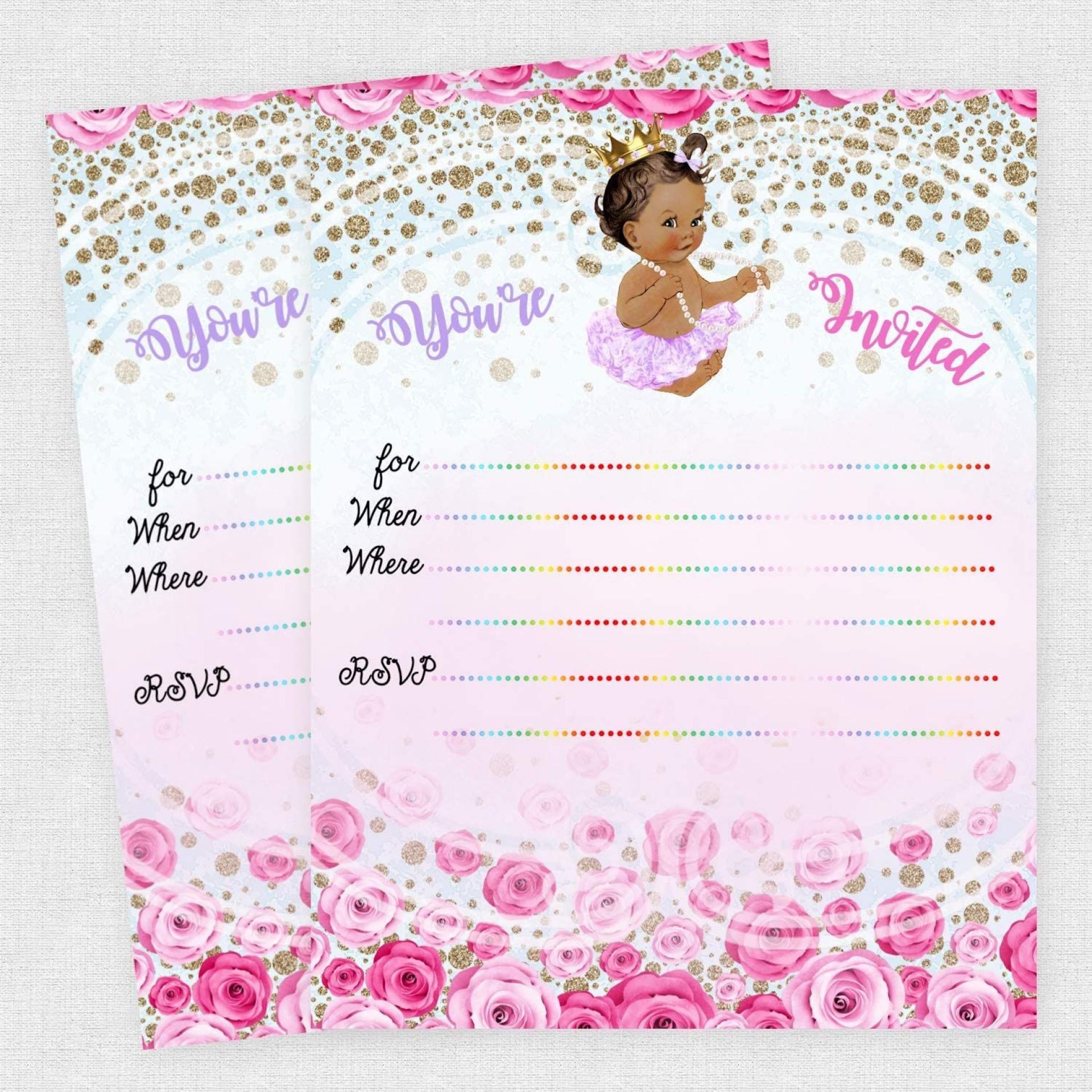 005 Amazing Baby Shower Invitation Girl Princes Image  Princess Theme1920