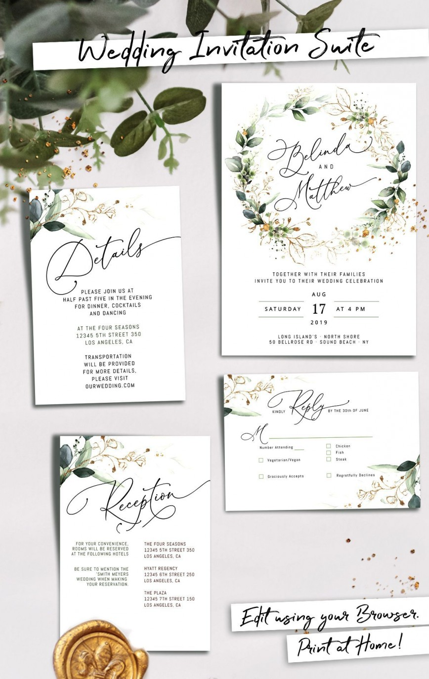Editable Wedding Invitation Templates Addictionary