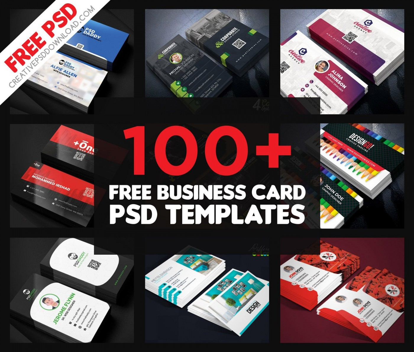 005 Amazing Free Adobe Photoshop Busines Card Template Highest Clarity  Download1400