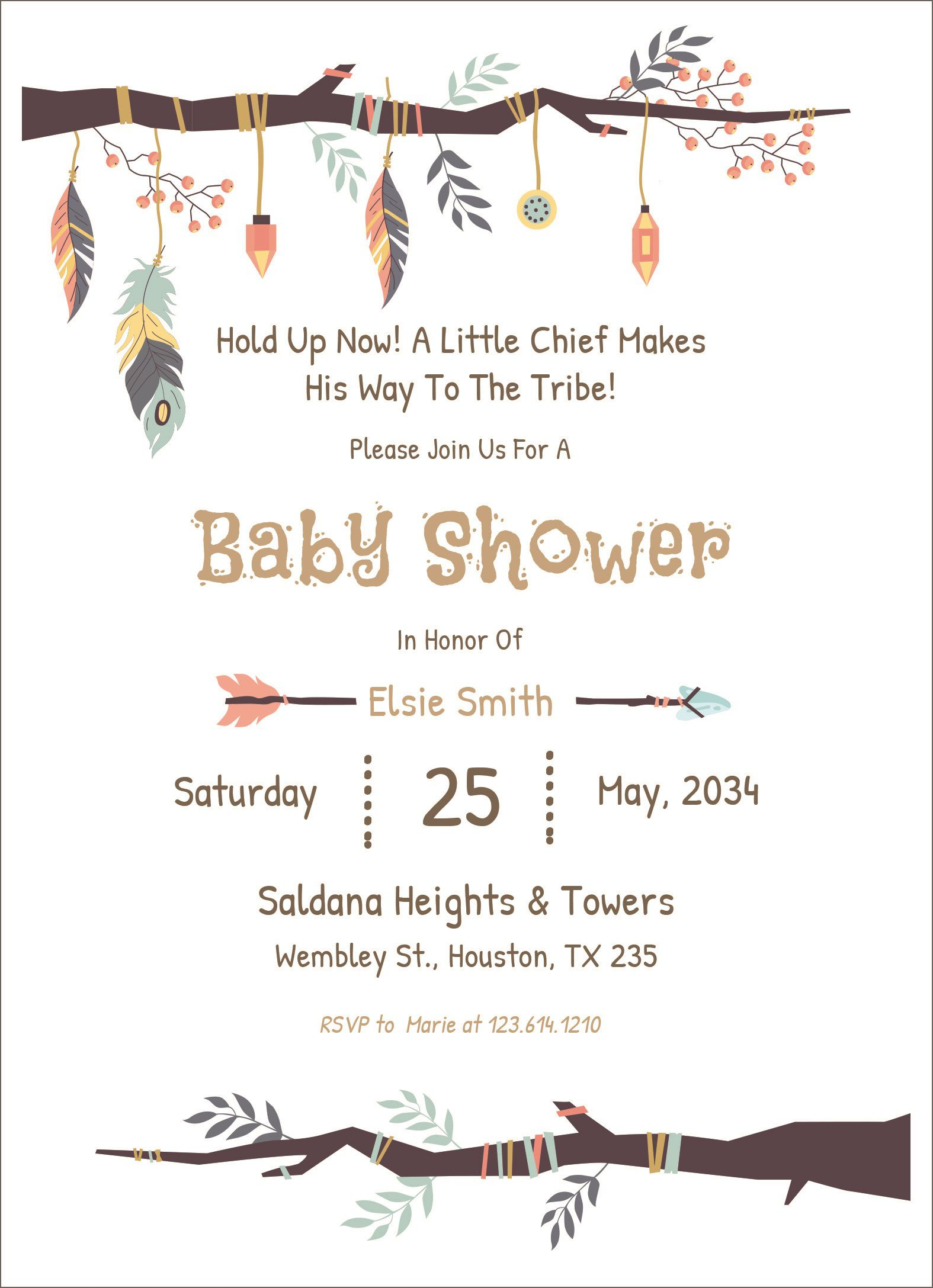 005 Amazing Free Baby Shower Card Template For Word High Def Full