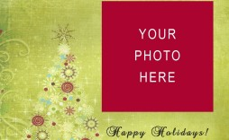 005 Amazing Free Download Holiday Card Template Photo  Templates