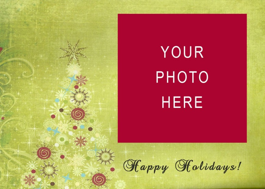 005 Amazing Free Download Holiday Card Template Photo 868