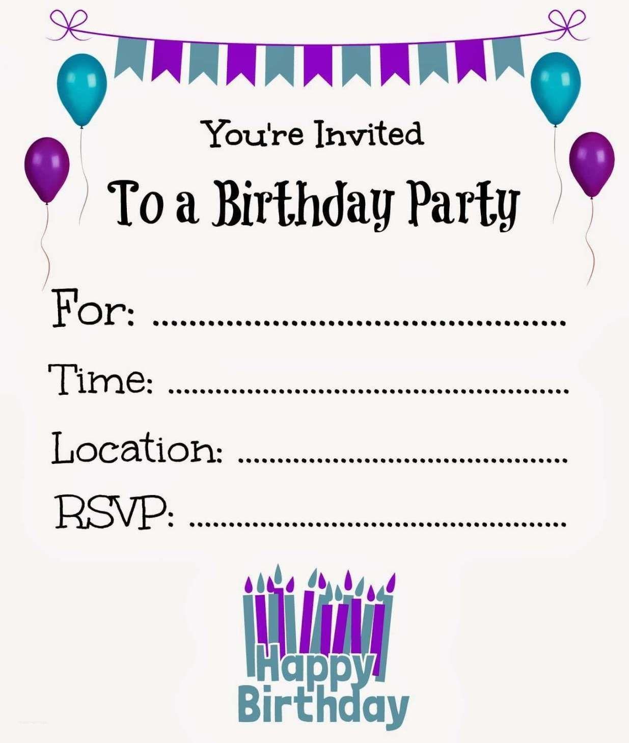 005 Amazing Free Online Printable Birthday Invitation Template Inspiration  Templates Card MakerFull