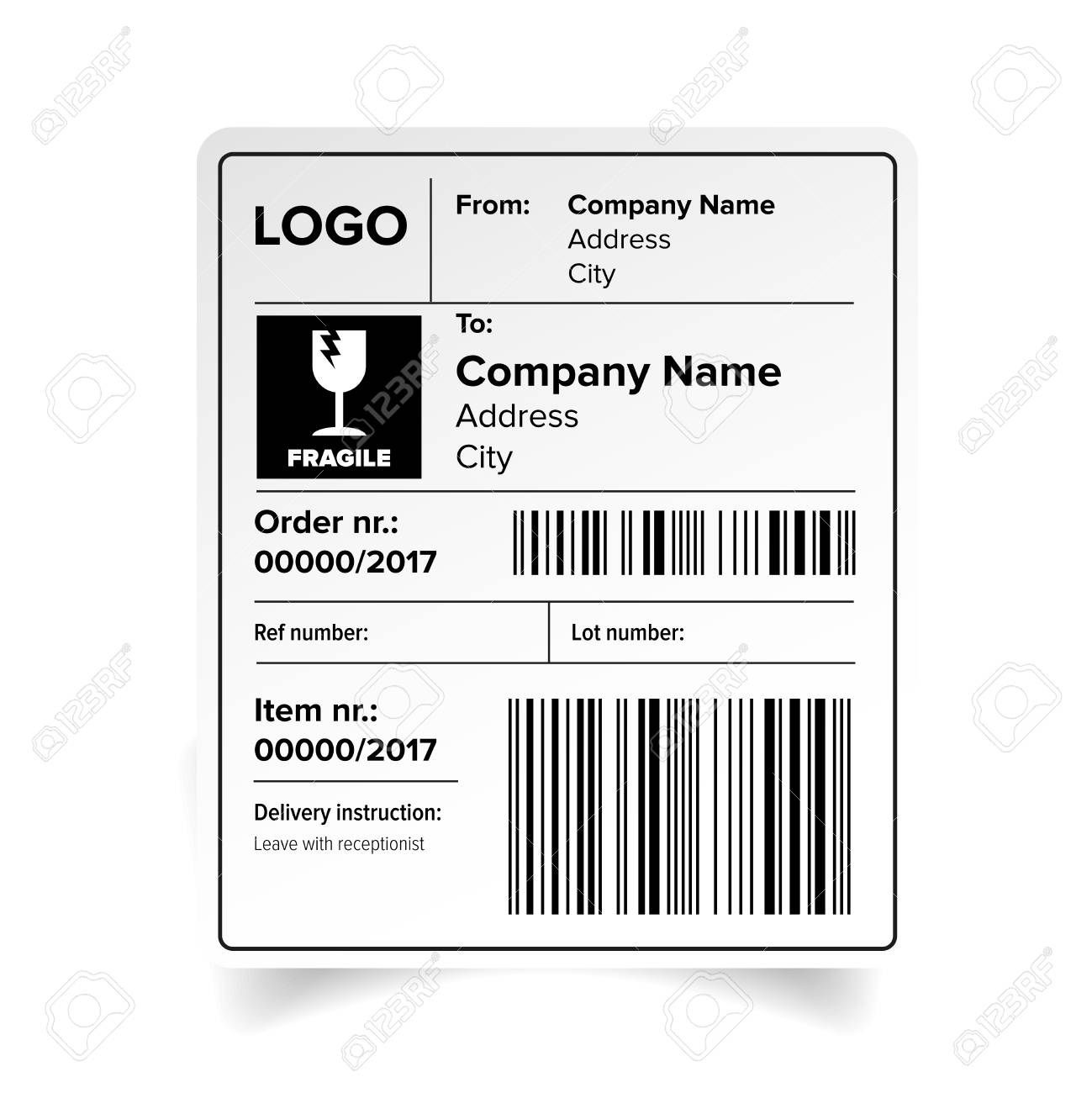 005 Amazing Free Shipping Label Format Highest Quality Full