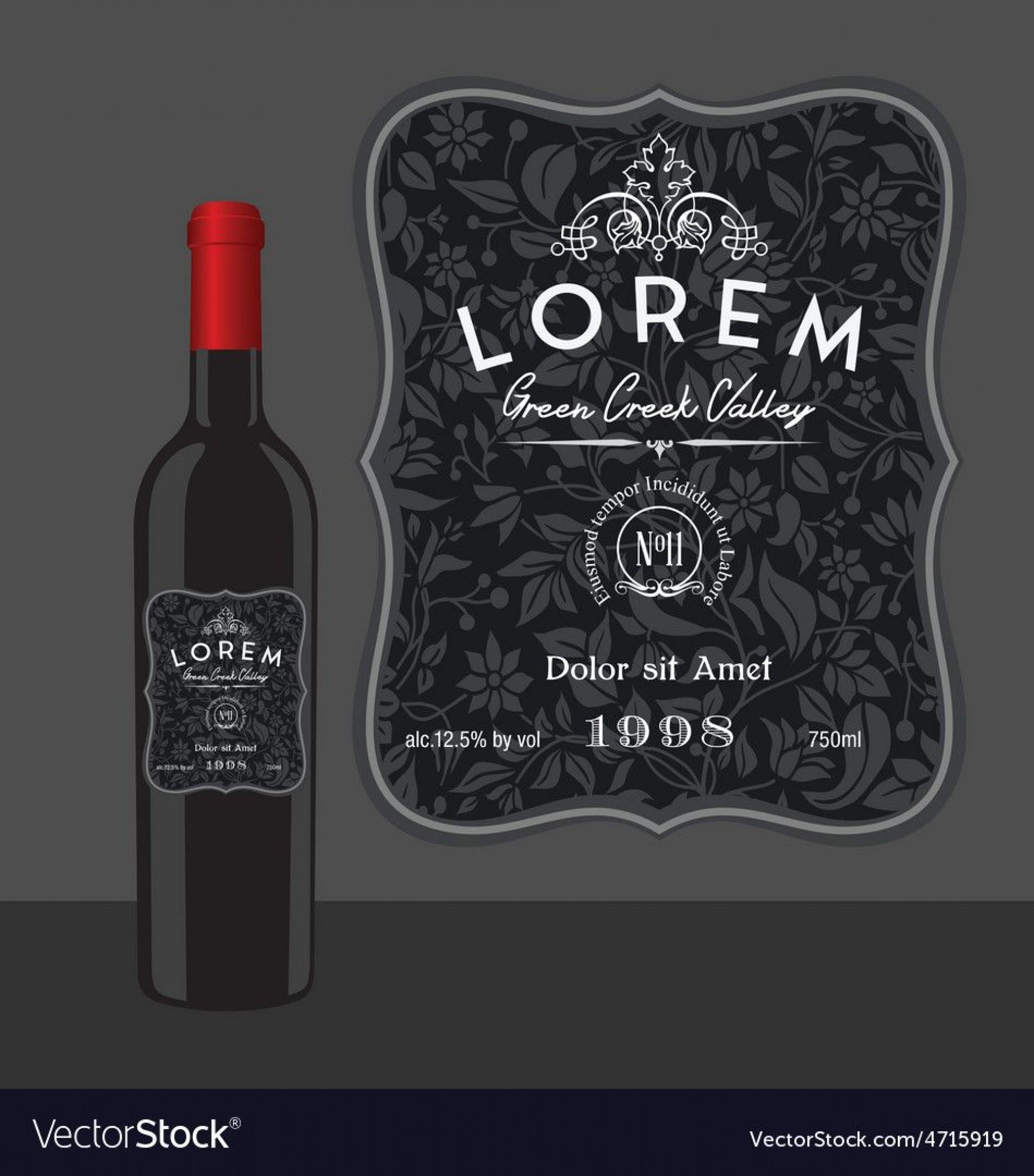 005 Amazing Free Wine Bottle Label Template Highest Clarity  Mini Printable1920