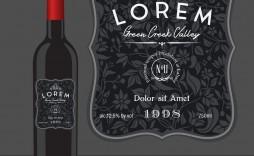 005 Amazing Free Wine Bottle Label Template Highest Clarity  Mini Printable