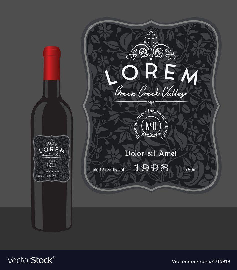 005 Amazing Free Wine Bottle Label Template Highest Clarity  Mini PrintableFull
