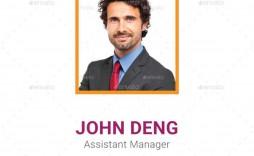 005 Amazing Id Badge Template Photoshop Example  Psd Employee