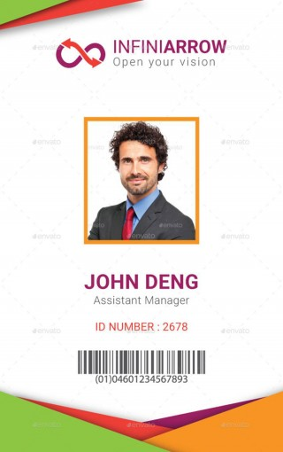 005 Amazing Id Badge Template Photoshop Example  Employee320