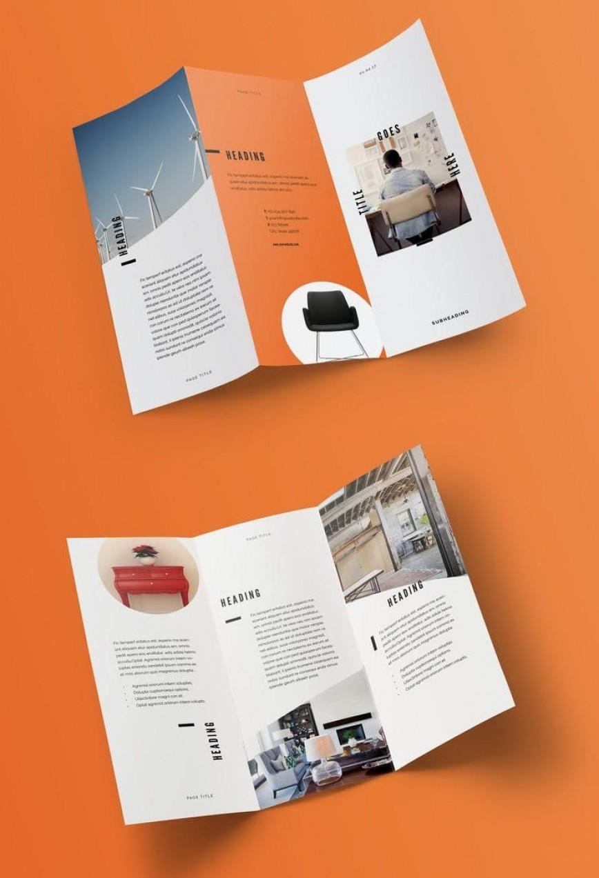 005 Amazing Indesign Trifold Brochure Template Design  Tri Fold A4 Bi Free Download868