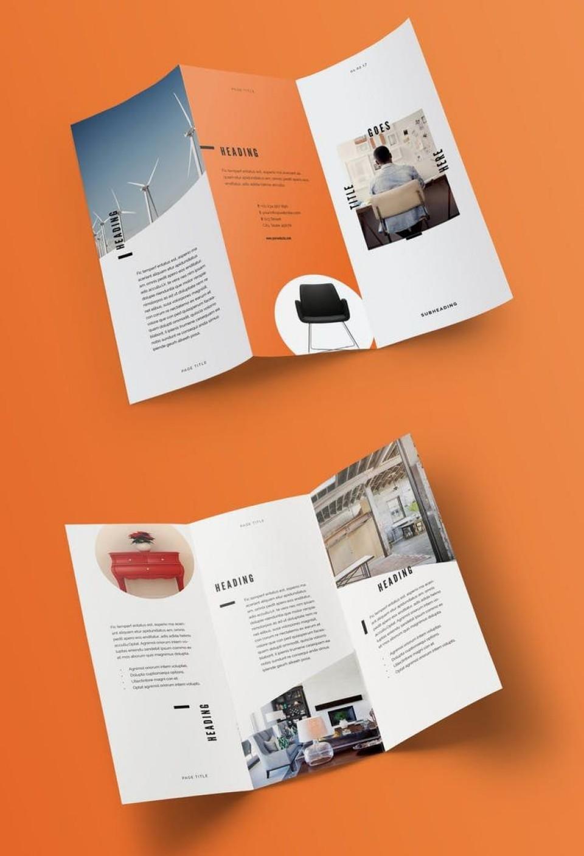 005 Amazing Indesign Trifold Brochure Template Design  Tri Fold A4 Bi Free Download960