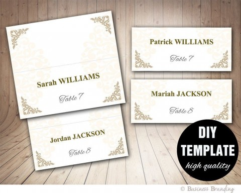 005 Amazing Microsoft Word Place Card Template Highest Quality  Table Free Print Name480