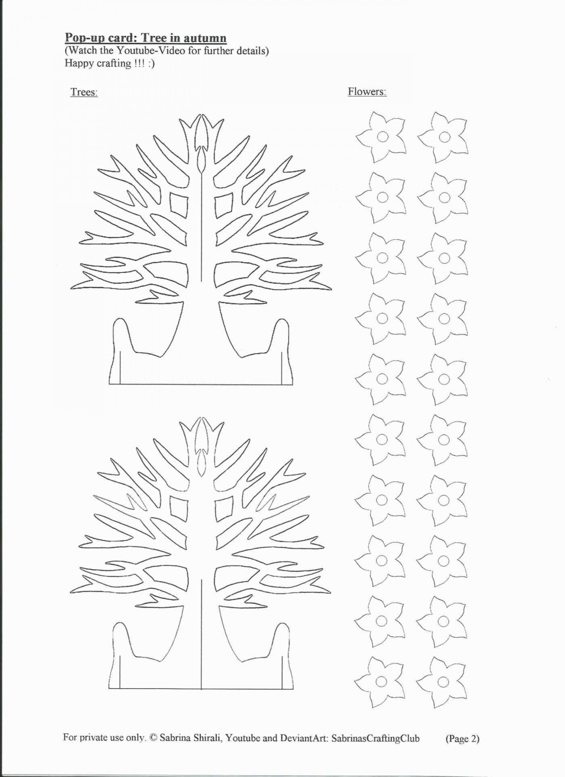 005 Amazing Pop Up Card Template Free Sample  Download Pdf Christma Kirigami Pattern1920
