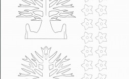 005 Amazing Pop Up Card Template Free Sample  Download Pdf Christma Kirigami Pattern