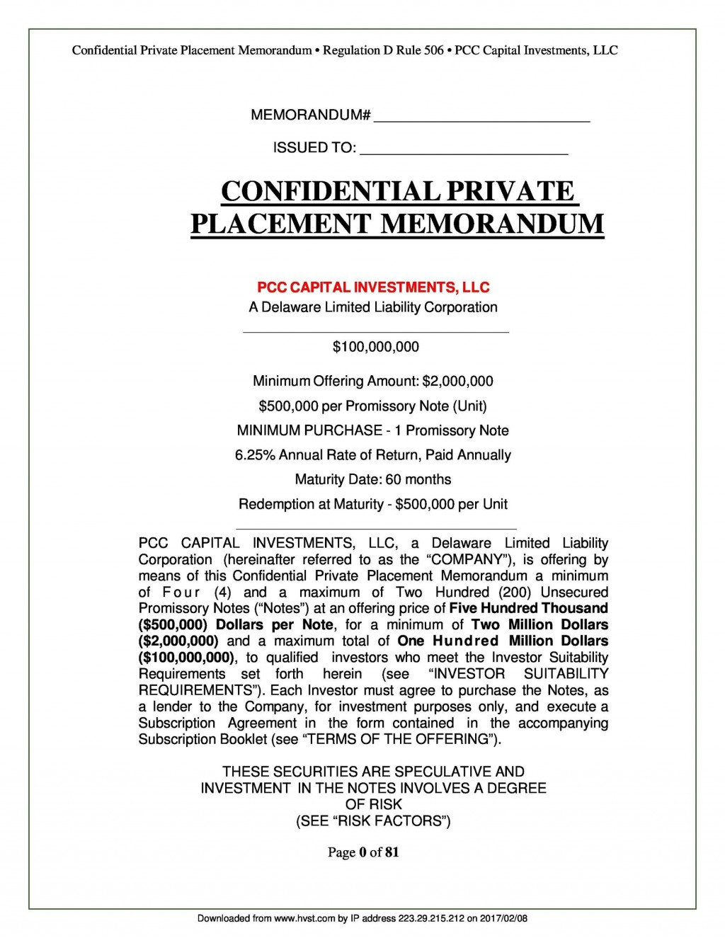 005 Amazing Private Placement Memorandum Template Concept  Real Estate SingaporeLarge