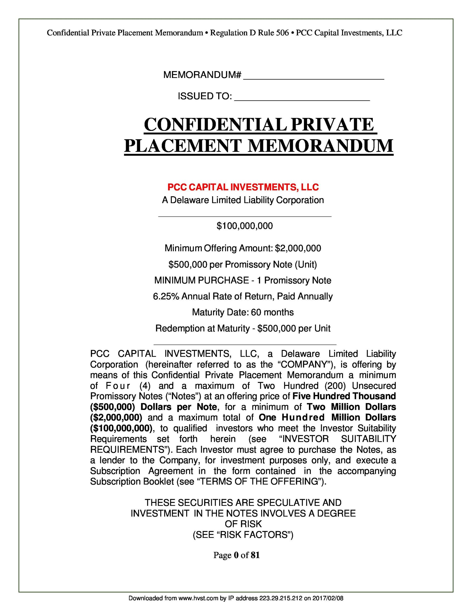 005 Amazing Private Placement Memorandum Template Concept  Real Estate SingaporeFull