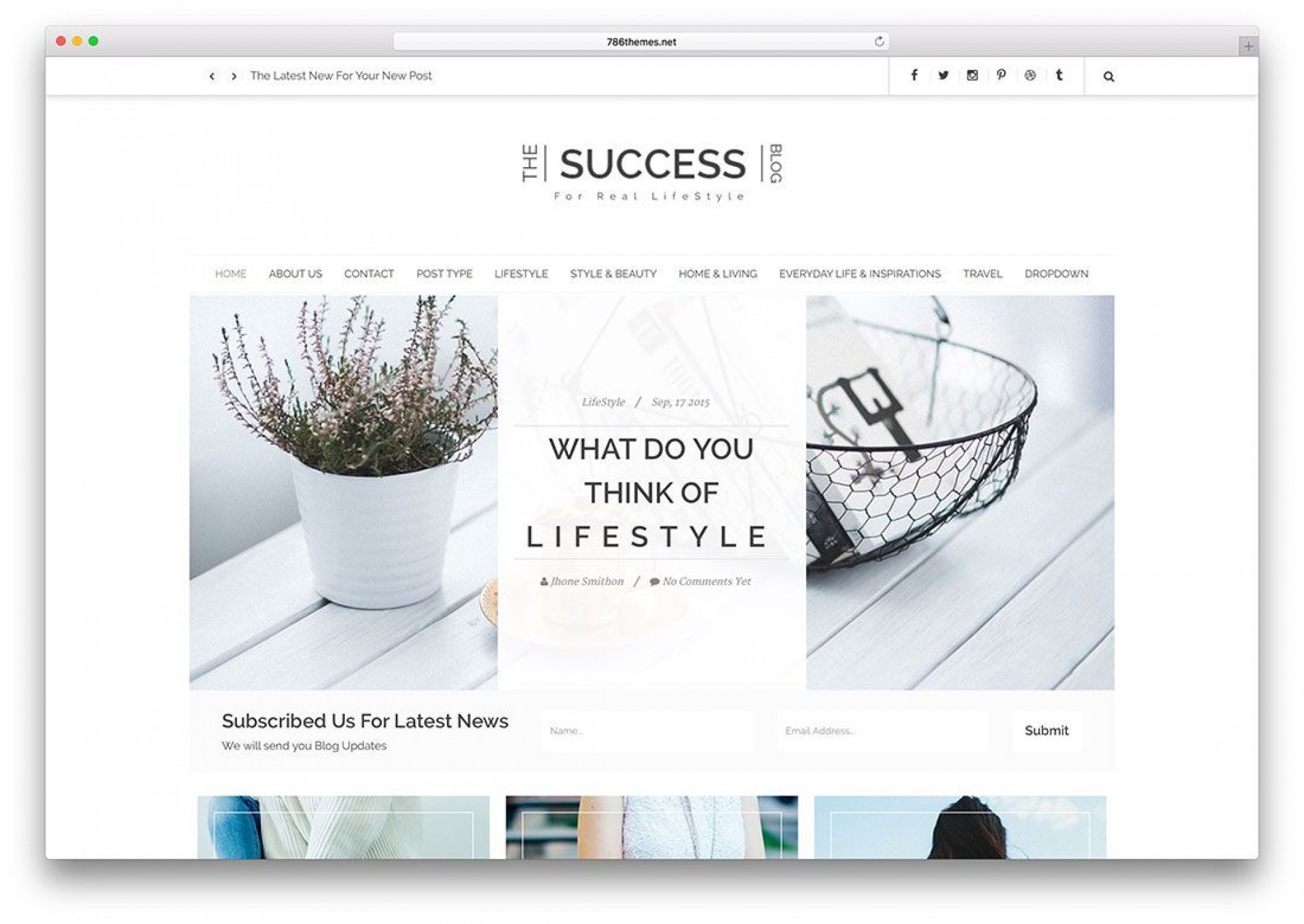 005 Amazing Simple Html Blog Template Free Download Example  With Cs1920