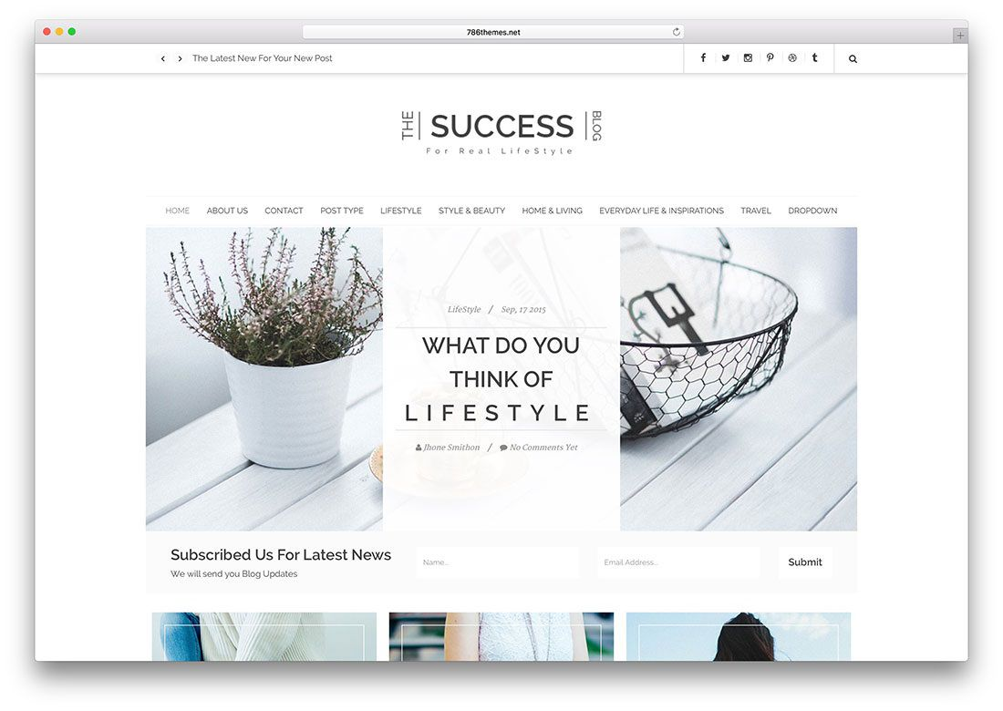 005 Amazing Simple Html Blog Template Free Download Example  With CsFull
