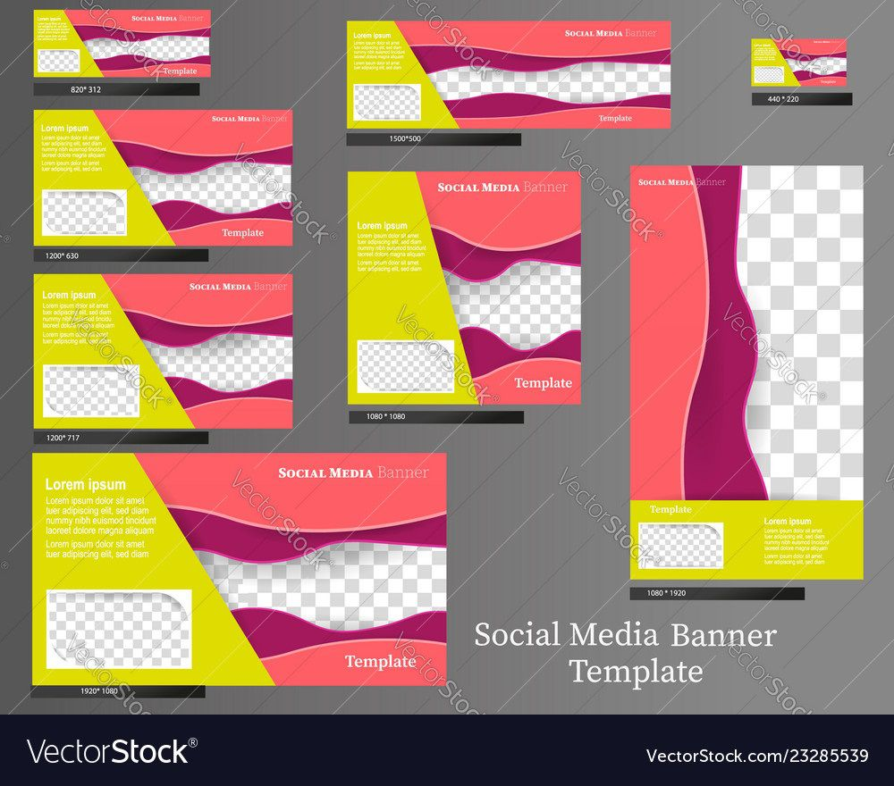 005 Amazing Social Media Banner Template Free Concept Full