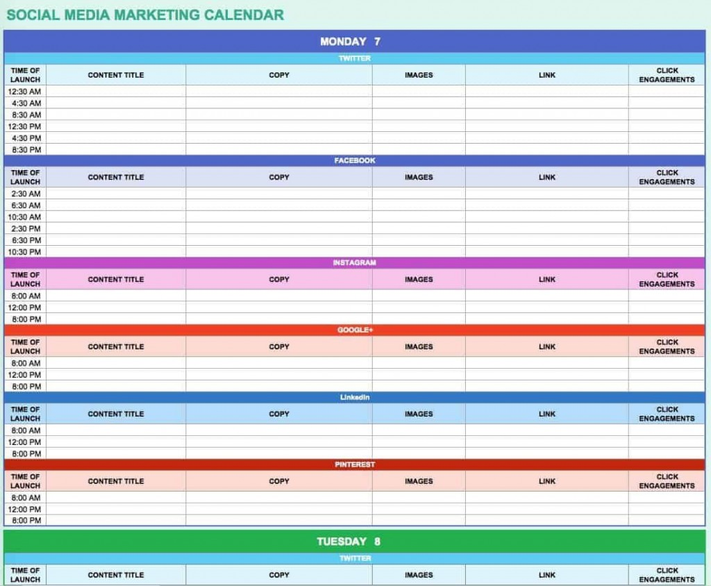005 Amazing Social Media Editorial Calendar Template Example  Templates Content 2019 Planning 2020Large
