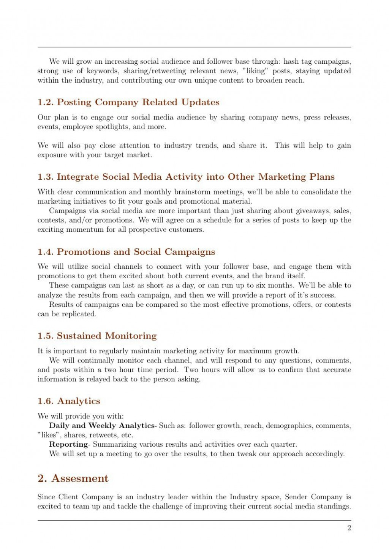 005 Amazing Social Media Marketing Proposal Template Inspiration  Plan Free Download Pdf WordLarge