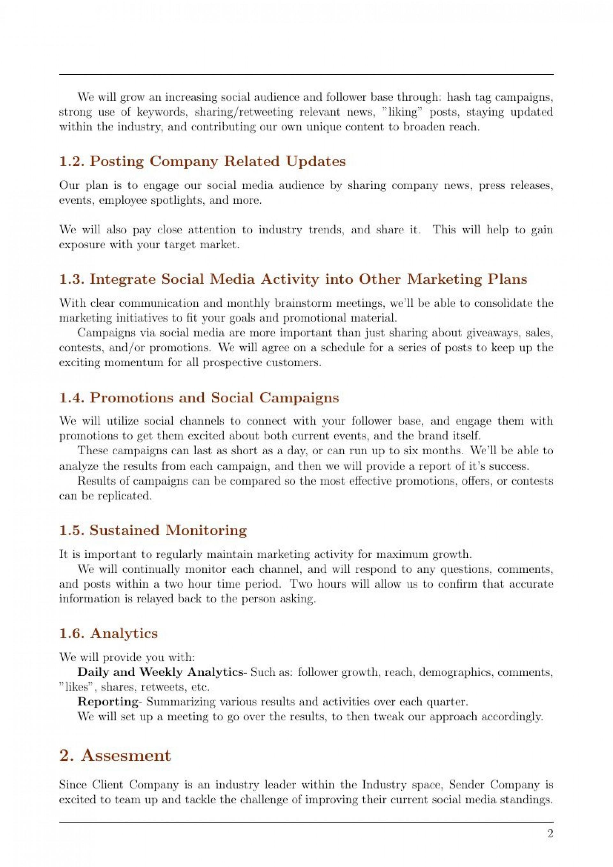 005 Amazing Social Media Marketing Proposal Template Inspiration  Plan Free Download Pdf Word1920